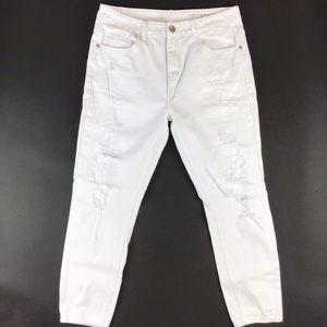 Cotton On white distressed boyfriend carrot fit 8
